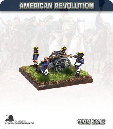 10mm American Revolution: 3pdr Guns with British Crew (painted by Andy Mac)