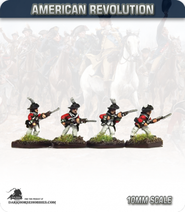 10mm American Revolution: British Cutdown Coats in Round Hats - Charging (painted by Andy Mac)