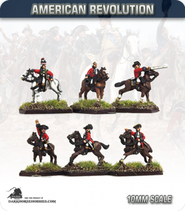 10mm American Revolution: British Mounted Officers (painted by Andy Mac)