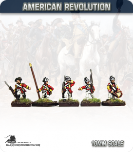 10mm American Revolution: British Saratoga Command - Marching (painted by Andy Mac)