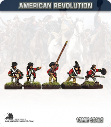 10mm American Revolution: British Cutdown Coats in Round Hats Command - Charging (painted by Andy Mac)