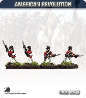 10mm American Revolution: British Guards Line Company - Advancing (painted by Andy Mac)