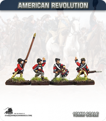 10mm American Revolution: British Guards Command - Advancing (painted by Andy Mac)