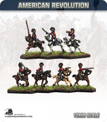 10mm American Revolution: British Light Dragoons in Tarleton (painted by Andy Mac)