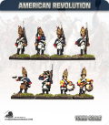 10mm American Revolution: Brunswick Grenadiers with Command - Marching (painted by Andy Mac)