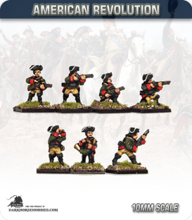 10mm American Revolution: German Jagers with Command (painted by Andy Mac)