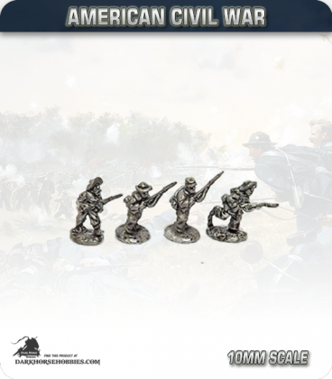 10mm American Civil War: Confederate Foot - Advancing (type 2)