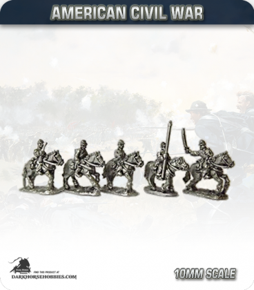 10mm American Civil War: Union Cavalry with Command