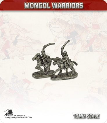 10mm Mongols: Medium Cavalry with Sword and Bow