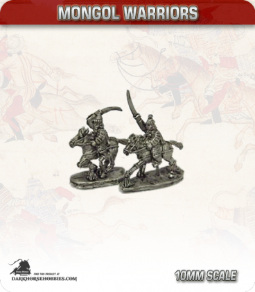 10mm Mongols: Heavy Cavalry with Sword and Bow