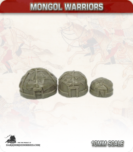 10mm Mongols: Mixed Yurts