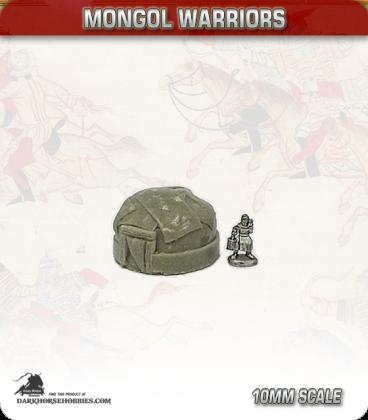 10mm Mongols: Small Yurts