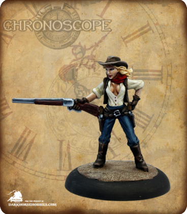 Chronoscope (Wild West): Janey Blankenship, Cowgirl (painted by Martin Jones)