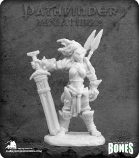Pathfinder Bones Miniatures: Amiri, Iconic Female Human Barbarian