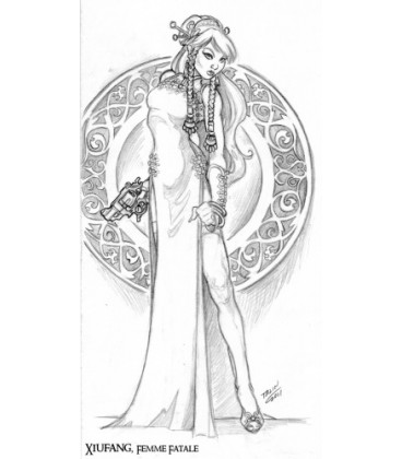 Chronoscope: Xiufang, Femme Fatale (concept art by Talin)