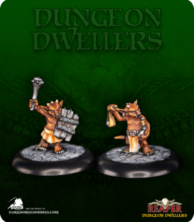 Dungeon Dwellers: Ratpelt Kobolds (painted by Tish Walter)