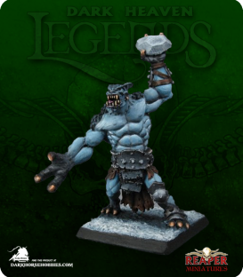 Dark Heaven Legends: Hellborn (Ice) Troll (painted by Michael Genet)
