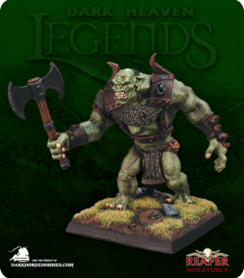 Dark Heaven Legends: Mountain Troll (painted by Michael Genet)