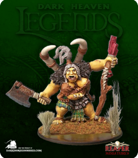 Dark Heaven Legends: Talanka, Ogre Shamanesse (painted by Sean Fulton)