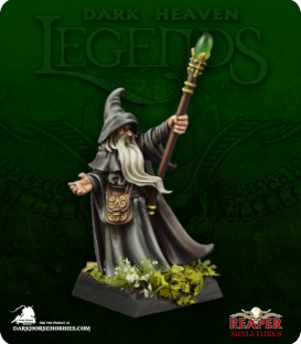 Dark Heaven Legends: Arakus Landarzad, Wizard (painted by Jen Greenwald)