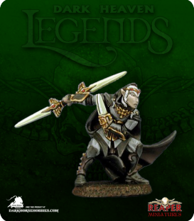 Dark Heaven Legends: Baeldrinahr, Rogue Fighter (painted by Anne Foerster)