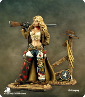Ellen Stone, Cowgirl (54mm) (painted by Anne Foerster)