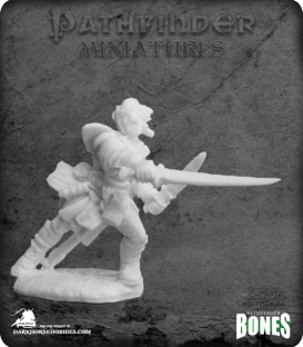 Pathfinder Bones Miniatures: Valeros, Iconic Fighter