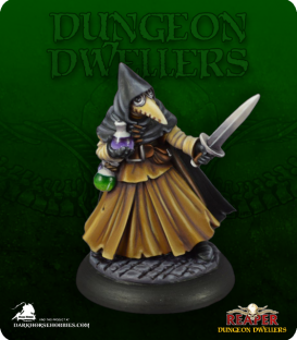Dungeon Dwellers: Brother Lazarus, Plague Doctor (painted by Jen Greenwald)
