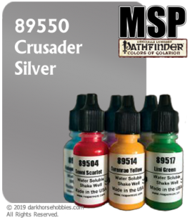 Master Series Paint: Pathfinder Colors - 89550 Crusader Silver (1/2 oz)