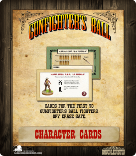 Gunfighter's Ball: Character Cards