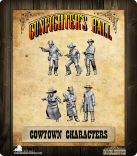 Gunfighter's Ball: Cowtown Characters Faction Pack