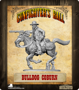 Gunfighter's Ball: Bulldog Coburn Mounted Figure