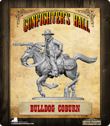 Gunfighter's Ball: Bulldog Coburn Mounted Figure