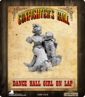 Gunfighter's Ball: Dance Hall Gal on Cowboy's Lap