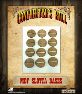 Gunfighter's Ball: MDF Slotta Bases Pack