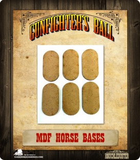 Gunfighter's Ball: MDF Horse Bases Pack