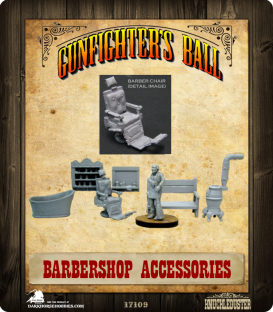 Gunfighter's Ball: Barber Shop Set