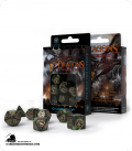 Dragons Bottle Green-Gold Polyhedral Dice Set (7)