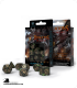 Dragons Bottle Green-Gold Polyhedral Dice Set