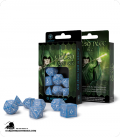 Elven Glacier-White Polyhedral dice set