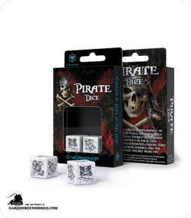 Pirate White-Black 2D6 Dice Set