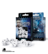 Classic RPG White-Black Polyhedral Dice Set
