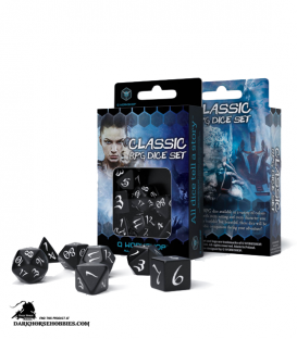 Classic RPG Black-White Polyhedral Dice Set
