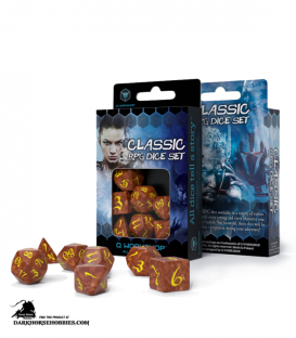 Classic RPG Caramel-Yellow Polyhedral Dice Set