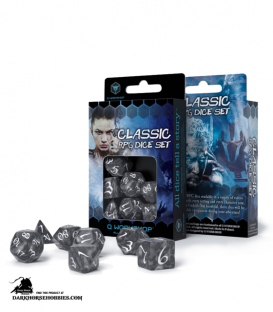 Classic RPG Smoky-White Polyhedral Dice Set