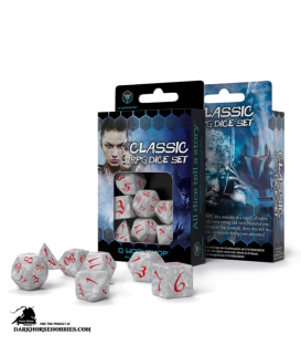Classic RPG Pearl-Red Polyhedral Dice Set
