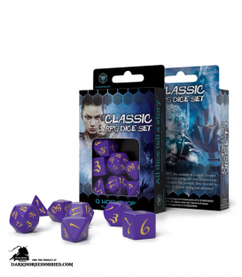 Classic RPG Purple-Yellow Polyhedral Dice Set