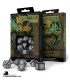 Celtic 3D Revised Black-White Polyhedral Dice Set