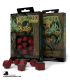 Celtic 3D Revised Black-Red Polyhedral Dice Set