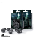 Runic Black-White Polyhedral Dice Set